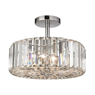 Clearview 3-light Semi-flush in Polished Chrome