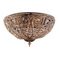Elizabethan 3-light Flush Mount in Dark Bronze