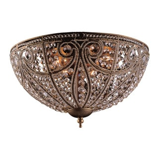 Elizabethan 6-light Flush Mount in Dark Bronze