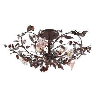 Cristallo Fiore 3-light Semi-flush
