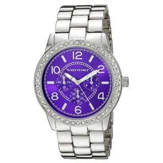 Vernier Women's Color Dial Crystal Bezel Chrono-Look Bracelet Watch|https://ak1.ostkcdn.com/images/products/10216889/P17339028.jpg?impolicy=medium