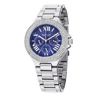 SO&CO New York Women's Madison Quartz Crystal Stainless Steel Watch