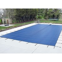 Pool Safety Cover for a 16'x32' Pool with Right Step