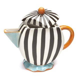 Blue Brulee Oversized Tea Pot by La Cote