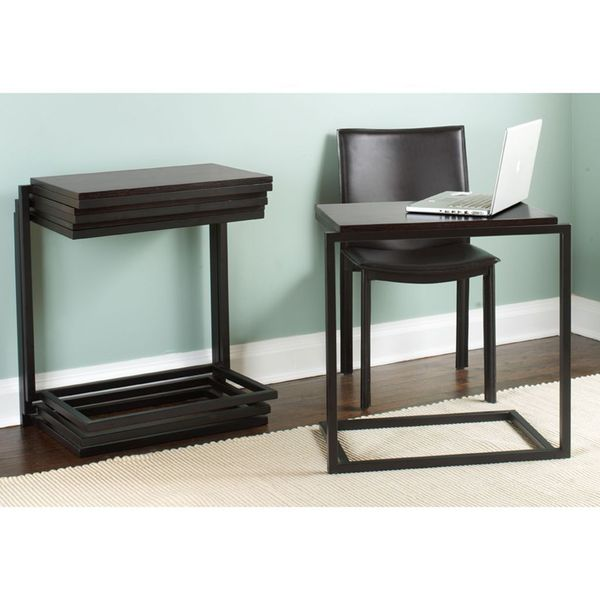 Shop Tag Stacking C Table Desk Java Free Shipping Today