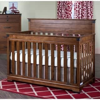 Child Craft Redmond Coach Cherry 4-in-1 Convertible Crib|https://ak1.ostkcdn.com/images/products/10216969/P17339086.jpg?impolicy=medium