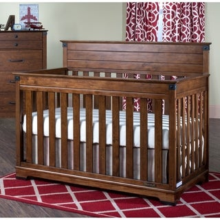Child Craft Redmond Coach Cherry 4 In 1 Convertible Crib