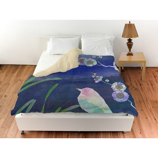 Songbird and Moon Duvet Cover
