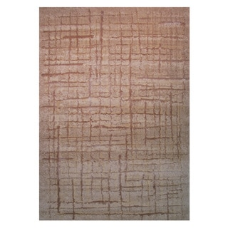 Power-Loomed Pioneer Collection Taupe Rug (7'3 x 10')