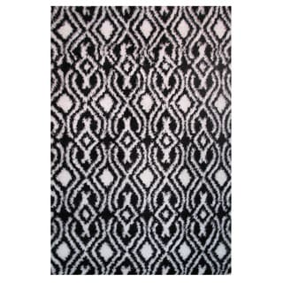 Power-Loomed Timber Collection Black Rug (8' x 11')