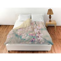 Weeping Cherry Blossoms Duvet Cover