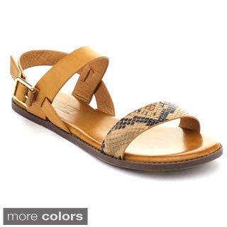 DBDK DRUTI-3 Women's Snake Buckle Ankle Strap Flat Heel Sandals