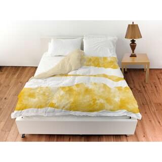 Summer Florals Yellow Stripe Duvet Cover