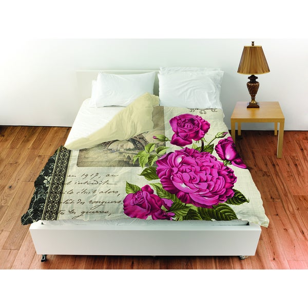 Springtime in Paris All Roses Duvet Cover