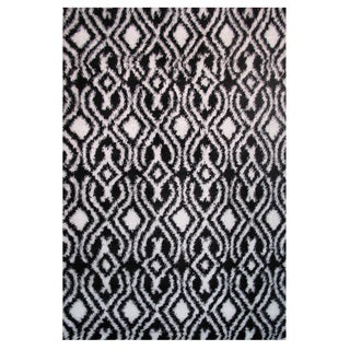 Power-Loomed Timber Collection Black Rug (5' x 8')