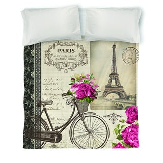 Springtime in Paris Bicycle Duvet Cover