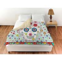 Sugar Skull Colored Box Duvet Cover