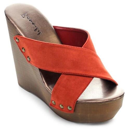 13e781b272 Shop Bonnibel NANCEE-4 Women's Slip On Criss Cross Platform Wedge - Free  Shipping On Orders Over $45 - Overstock - 10217126