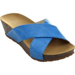 Bonnibel ZAHARA-2 Women's Slip On Criss Cross Low Platform Wedge