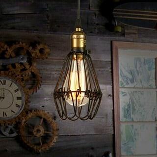 Brinley 1-light Adjustable Cord 8-inch Black Edison Pendant with Bulb