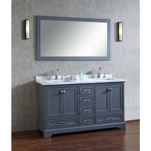 Stufurhome grey 60inch double sink bathroom vanity set with mirror free  shipping today34 Inch Bathroom Vanity    Nice Sleeper Sofa Memory Foam Mattress  . 34 Bathroom Vanity. Home Design Ideas