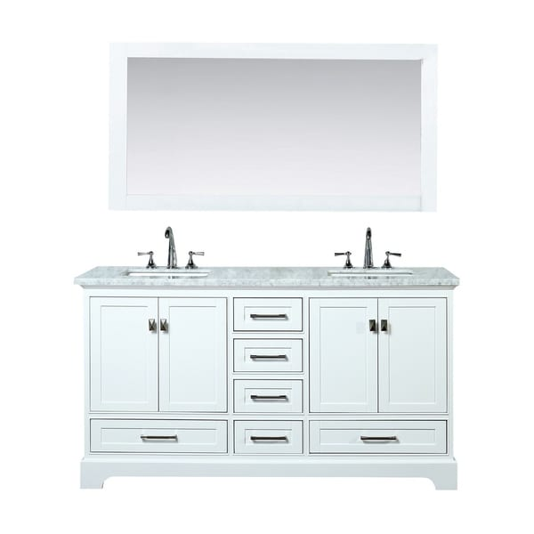 Shop Stufurhome White 72 Inch Double Sink Bathroom Vanity Set Free