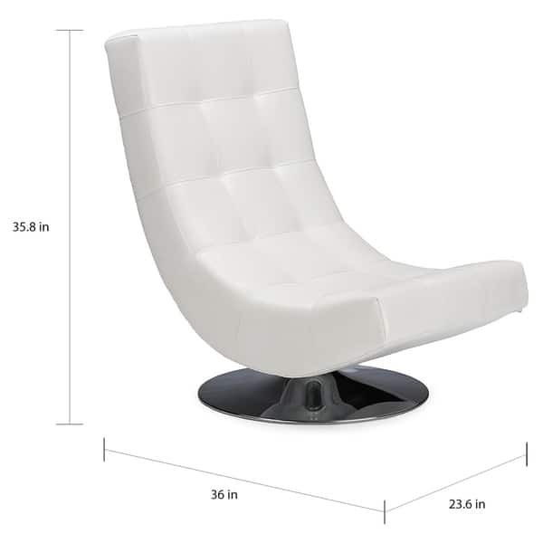 Cool Shop Modern White Pu Leather Accent Chair Free Shipping Short Links Chair Design For Home Short Linksinfo