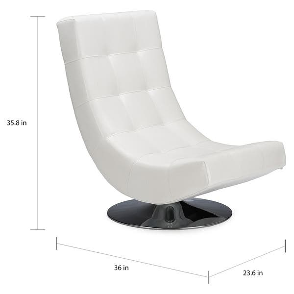 Phenomenal Shop Modern White Pu Leather Accent Chair Free Shipping Machost Co Dining Chair Design Ideas Machostcouk