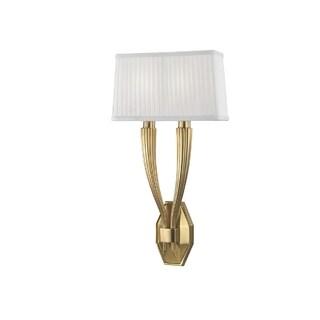 Hudson Valley Lighting Erie 2-light Wall Sconce, Aged Brass