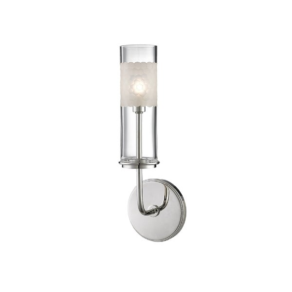 Hudson Valley Lighting Wentworth 1-light Wall Sconce, Polished Nickel