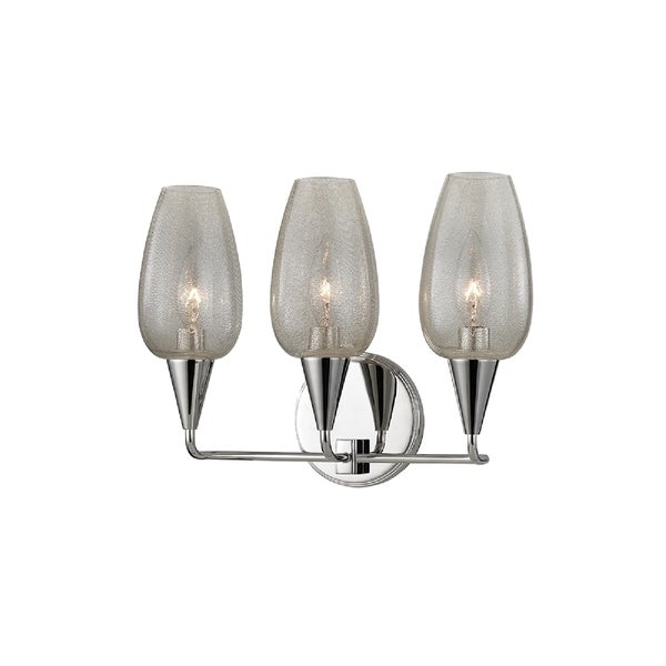 Hudson Valley Lighting Longmont 3-light Wall Sconce, Polished Nickel