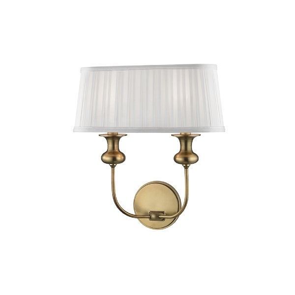 Hudson Valley Lighting Pembroke 2 Light Wall Sconce Aged Br