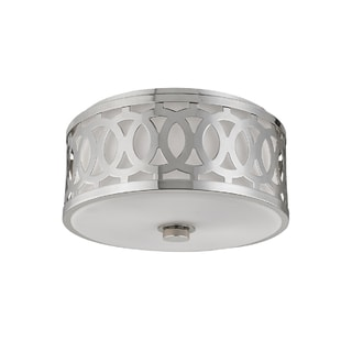 Hudson Valley Lighting Genesee 2-light Medium Nickel Flush Mount