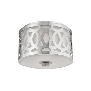 Hudson Valley Lighting Genesee 1-light Small Flush Mount, Nickel