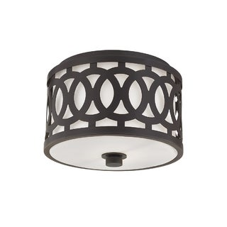 Hudson Valley Lighting Genesee 1-light Small Flush Mount, Old Bronze