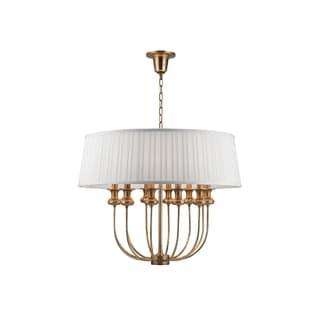 Hudson Valley Lighting Pembroke 12-light Pendant, Aged Brass