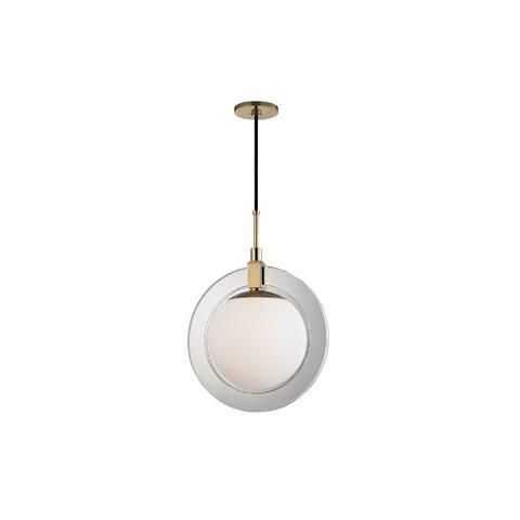 Hudson Valley Lighting Caswell Medium LED Pendant, Aged Brass