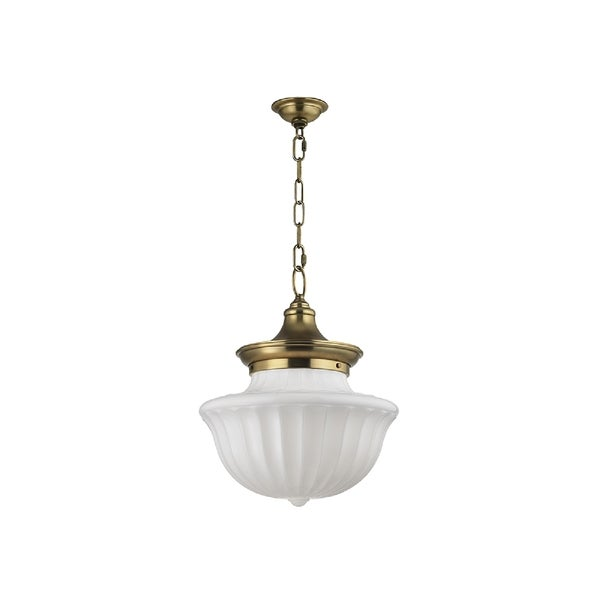 hudson valley lighting dutchess 2 light large pendant aged brass - Hudson Valley Lighting