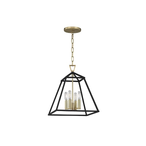 Hudson Valley Lighting Webster 4 Light Pendant Aged Br