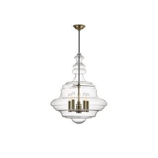 Hudson Valley Lighting Washington 5-light Large Pendant, Aged Brass