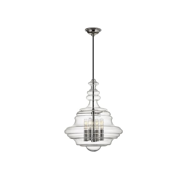 Hudson valley lighting washington 4 light small pendant nickel