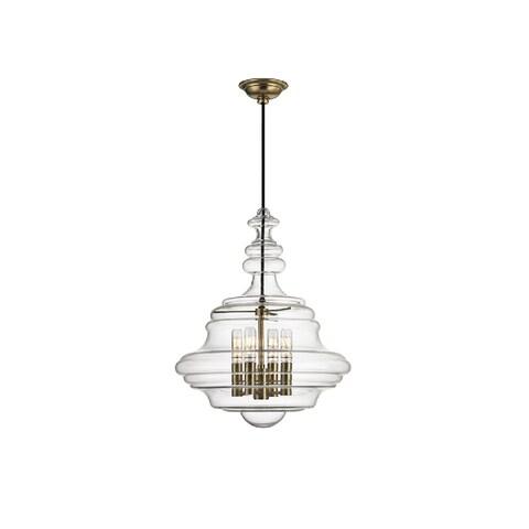 Hudson Valley Lighting Washington 4-light Small Pendant, Aged Brass
