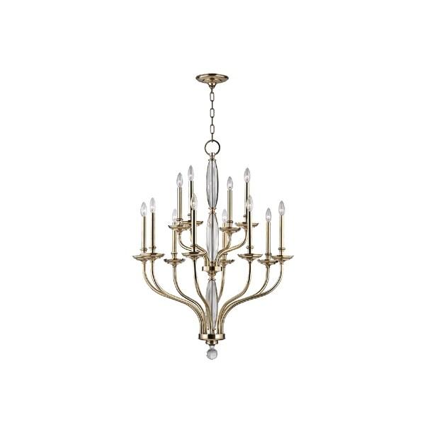 hudson valley lighting lauderhill 12 light chandelier aged brass - Hudson Valley Lighting