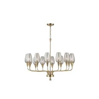 Hudson Valley Lighting Longmont 14-light Chandelier, Aged Brass