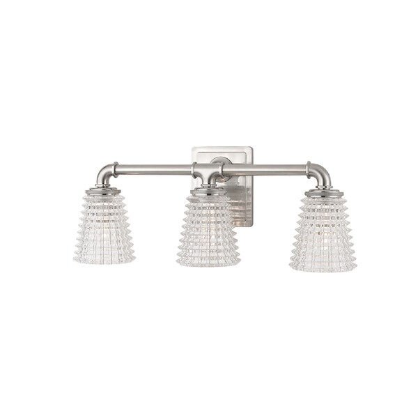 Hudson Valley Lighting Westbrook 3-light Bath Bracket, Satin Nickel