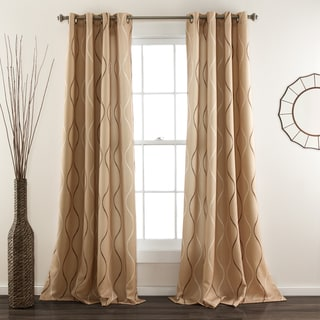 Lush Decor Swirl Blackout Curtain Panel Pair