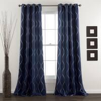 Lush Decor Swirl Room Darkening Curtain Panel Pair - 52 x 84