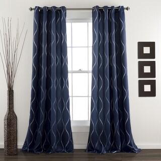Lush Decor Swirl Blackout Curtain Panel Pair - 52 x 84
