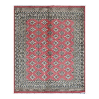 Herat Oriental Pakistani Hand-knotted Bokhara Red/ Beige Wool Rug (6'8 x 8'1)