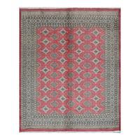 Handmade Herat Oriental Pakistani Bokhara Wool Rug (Pakistan) - 6'8 x 8'1